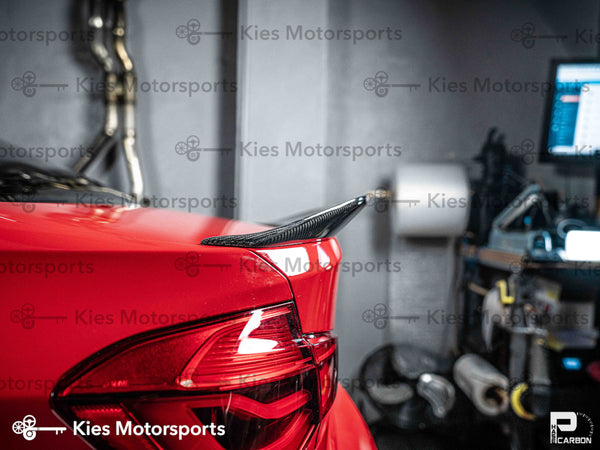 red f80 psm style carbon fiber trunk spoiler lip 02