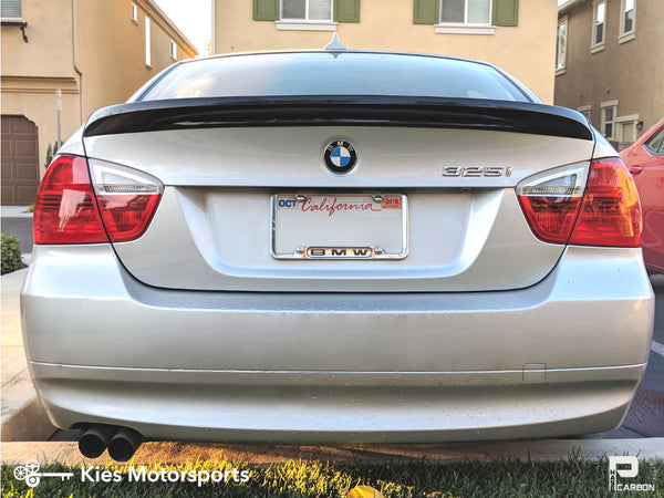 e90 carbon fiber trunk lip type i