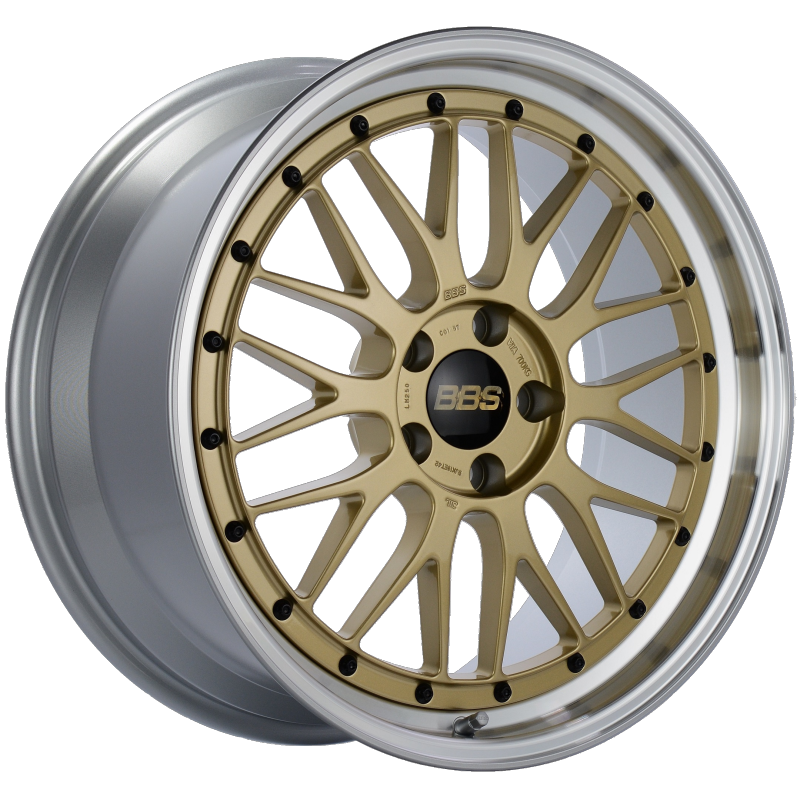 BBS LM 19x9 5x112 ET42 Gold Center Diamond Cut Lip Wheel -82mm PFS/Clip Required