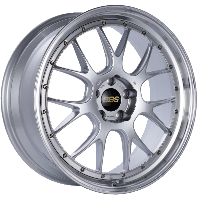 BBS LM-R 21x9 5x120 ET32 Diamond Silver Center Diamond Cut Lip Wheel -82mm PFS/Clip Required