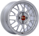 BBS RG-F 15x7 4x100 ET42 Sport Silver Wheel -70mm PFS/Clip Required