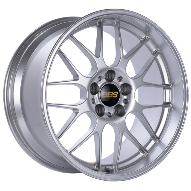 BBS RG-R 19x8.5 5x114.3 ET18 Sport Silver Polished Lip Wheel -82mm PFS/Clip Required