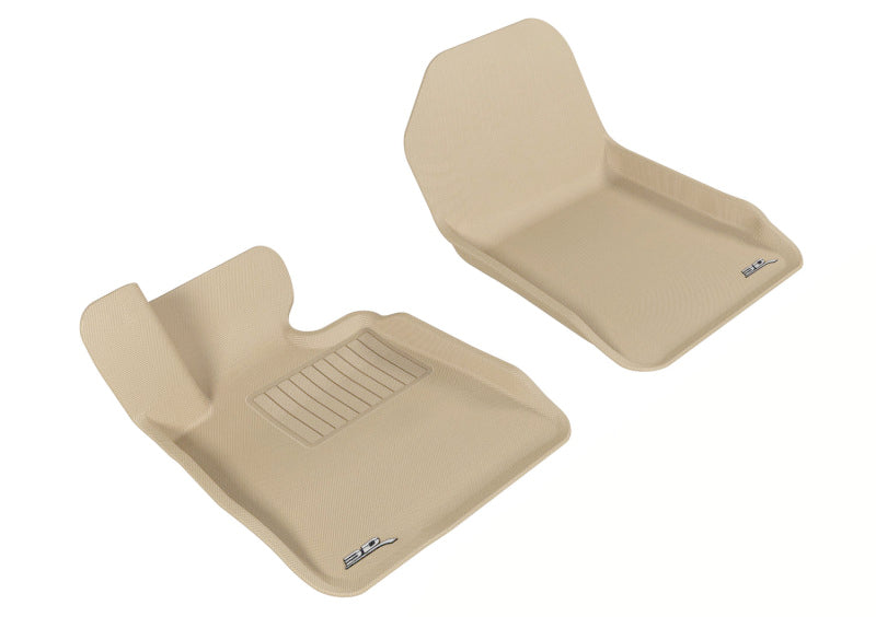3D MAXpider 2007-2013 BMW 3 Series E93 Kagu 1st Row Floormat - Tan