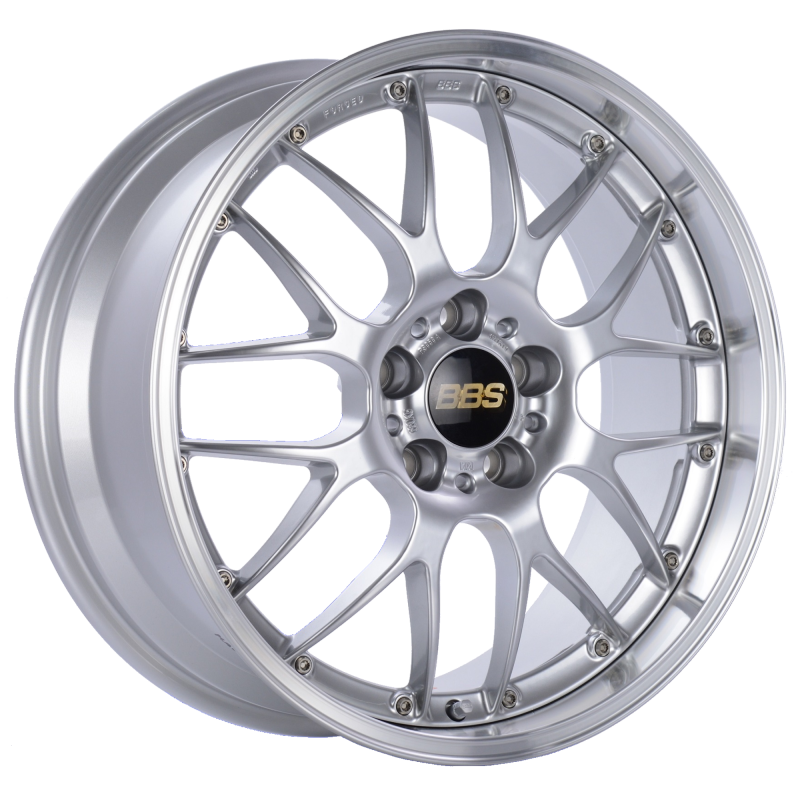 BBS RS-GT 18x10 5x130 ET65 CB71.6 Diamond Silver Center Diamond Cut Lip Wheel