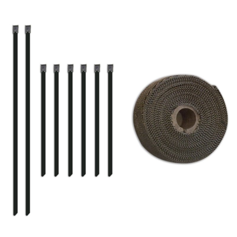 Mishimoto 2 inch x 35 feet Heat Wrap with Stainless Locking Tie Set