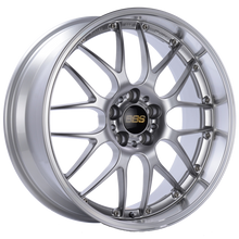 Load image into Gallery viewer, BBS RS-GT 19x10 5x120 ET25 Diamond Silver Center Diamond Cut Lip Wheel -82mm PFS/Clip Required