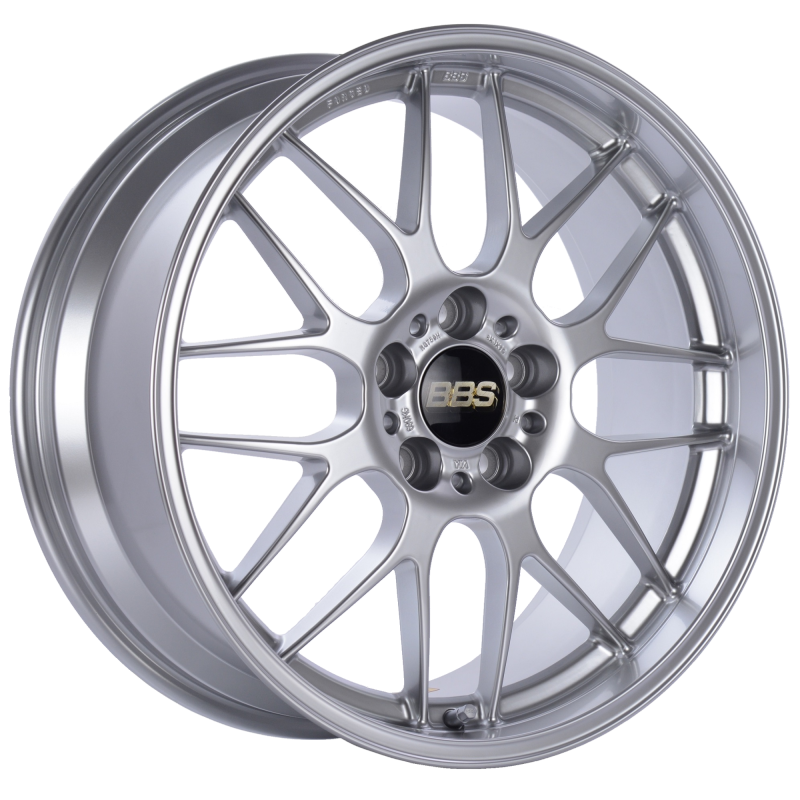 BBS RG-R 18x8.5 5x120 ET22 Diamond Silver Wheel -82mm PFS/Clip Required