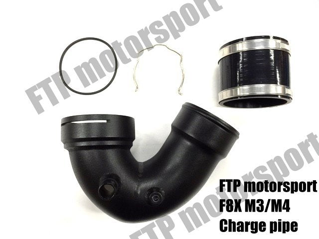 FTP F8X M3/M4 U TYPE CHARGE PIPE V1 (COLD SIDE J PIPE) CLEAR STOCK