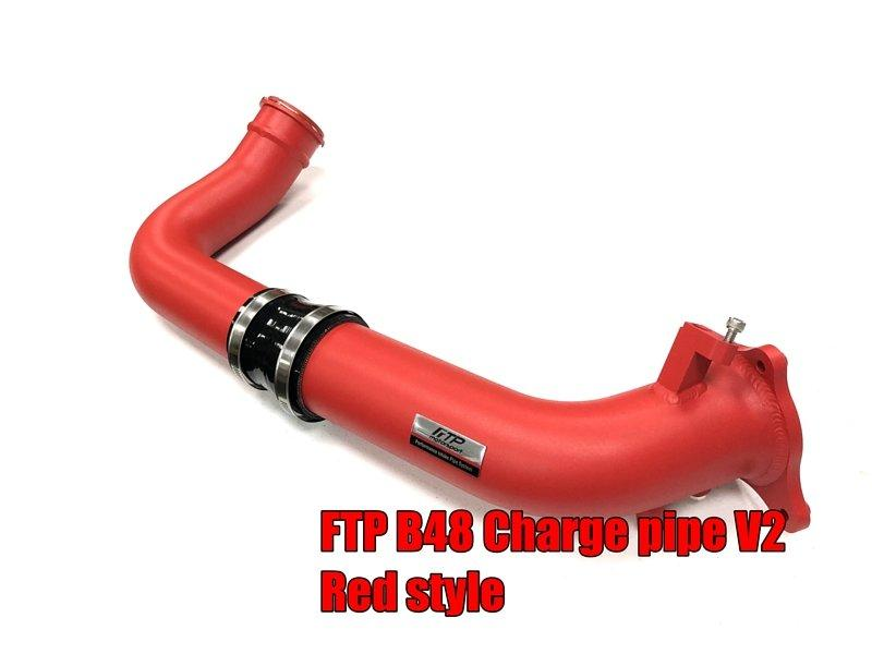 FTP BMW B48 B46 CHARGE PIPE V2 RED STYLE
