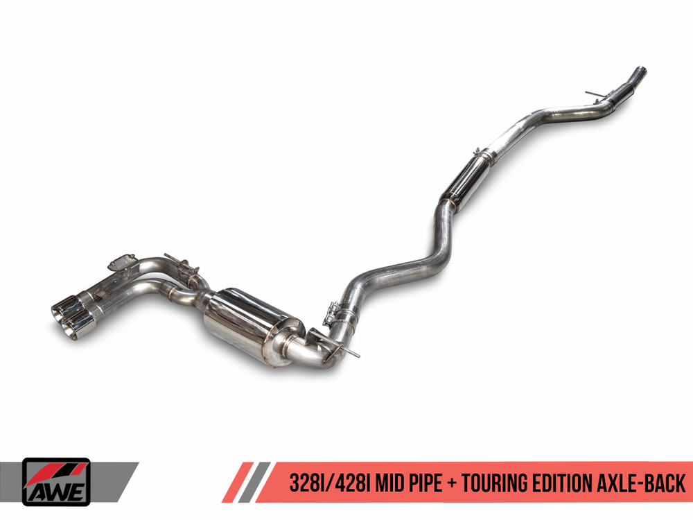 AWE Tuning F3X 328/330i Touring Edition Axle-back Exhaust