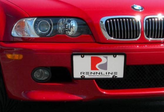Rennline License Plate Bracket Mount - Kies Motorsports