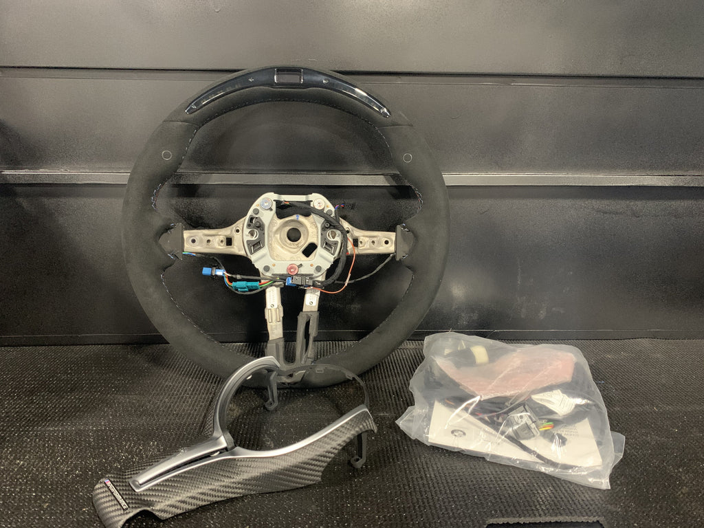Genuine BMW Alcantara M Performance RACE DISPLAY Wheel for the F87 M2 and M2C (Includes Matte Carbon Fiber Trim) - Kies Motorsports