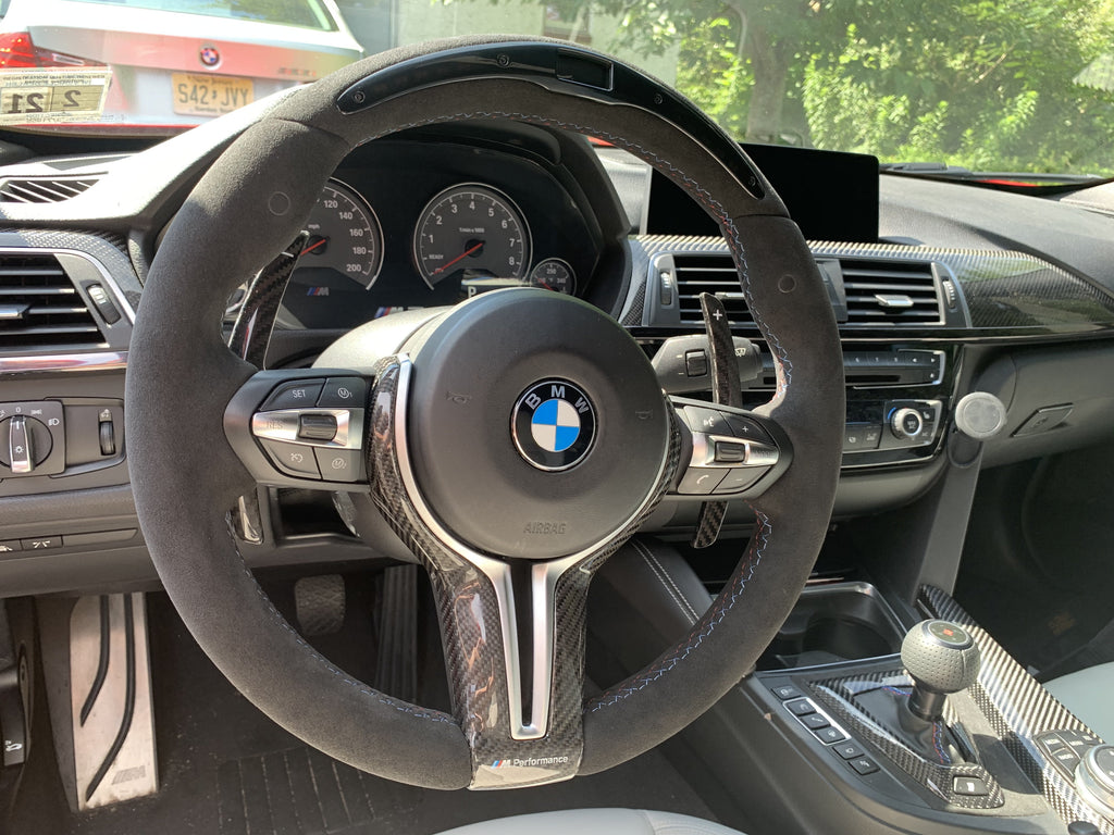 GENUINE BMW ALCANTARA M PERFORMANCE RACE DISPLAY WHEEL FOR THE F80 M3 and F82 M4 (INCLUDES GLOSS CARBON FIBER TRIM) - Kies Motorsports
