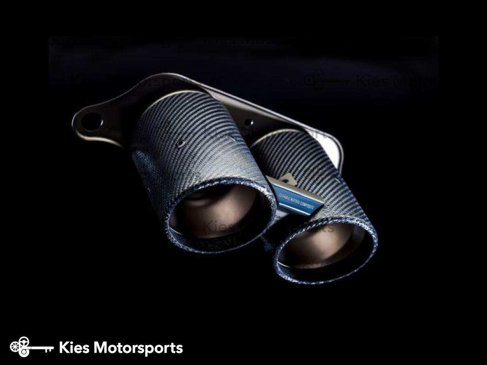 Akrapovic 18-19 Porsche 911 GT3 RS 991.2 Rear Carbon Fiber Diffuser w/ Ceramic Composite Tail Pipes - Kies Motorsports
