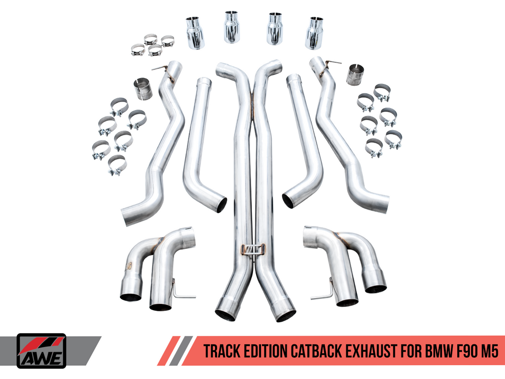 AWE F90 Exhaust Suite (Switchpath, Axle Back, Midpipe, and Track Edition)