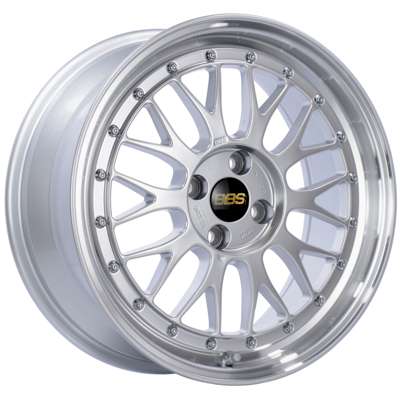 BBS LM 17x7.5 4x100 ET40 Diamond Silver Center Diamond Cut Lip Wheel -70mm PFS/Clip Required