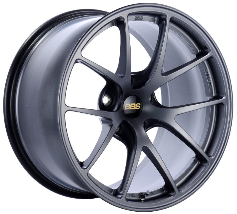 BBS RI-A 18x10.5 5x120 ET22 Matte Graphite Wheel -82mm PFS/Clip Required