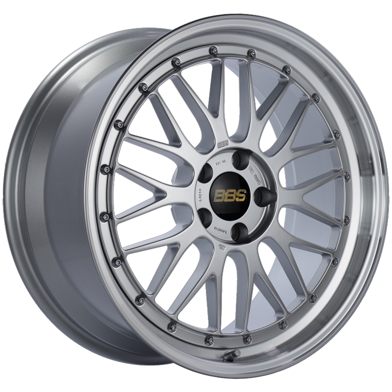BBS LM 19x9 5x112 ET42 Diamond Silver Center Diamond Cut Lip Wheel -82mm PFS/Clip Required
