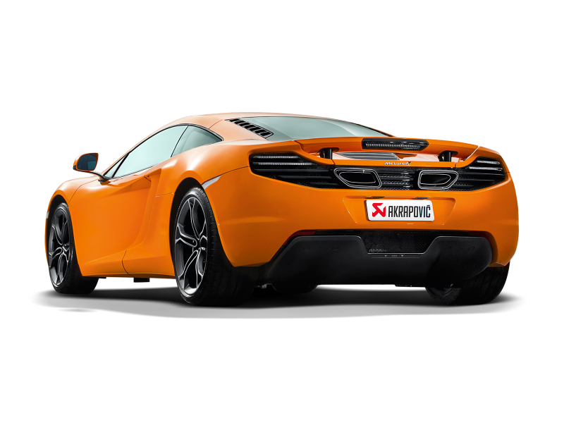 Akrapovic 12-14 McLaren 12C/12C Spyder Slip-On Line (Titanium) w/ Carbon Tips