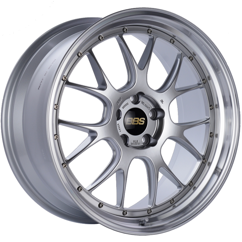BBS LM-R 21x10 5x120 ET35 Diamond Silver Center Diamond Cut Lip Wheel -82mm PFS/Clip Required