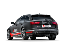 Load image into Gallery viewer, Akrapovic 14-17 Audi RS6 Avant (C7) Evolution Line Cat Back (Titanium) w/ Carbon Tips