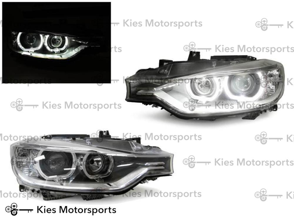 DEPO 2012-2015 F30/F31 3 Series 4 Door Sedan/5 Door Wagon Black LED Angel Eyes Halo Rings Projector Headlight