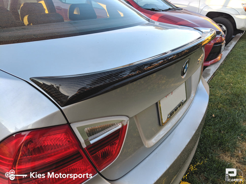 2004-2012 BMW E90 3 Series Carbon Fiber Trunk Spoiler (Type I)