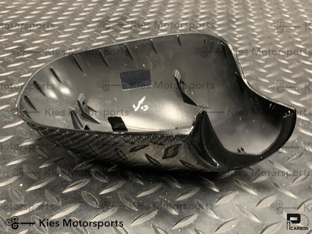 2009-2011 BMW E90 LCI 3 Series OEM Replacement Carbon Fiber Mirror Covers - Kies Motorsports