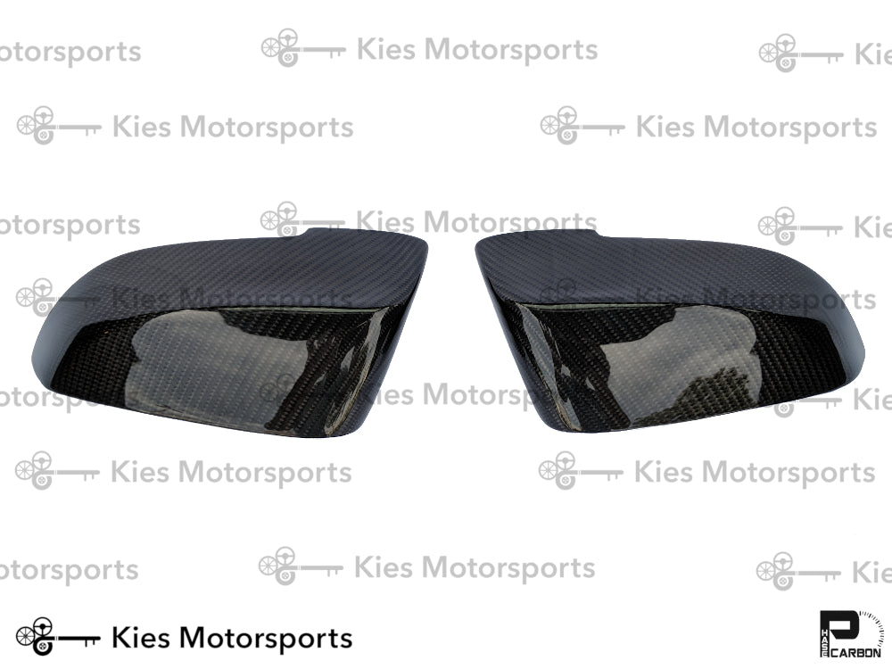 2013-2016 BMW F10 LCI 5 Series Performance Style Carbon Fiber Mirror Covers