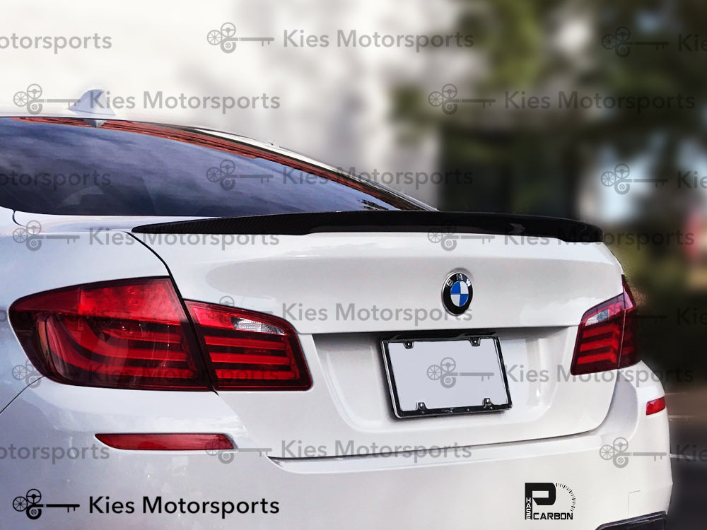 2011-2016 BMW F10 5 Series Performance Style Carbon Fiber Trunk Spoiler