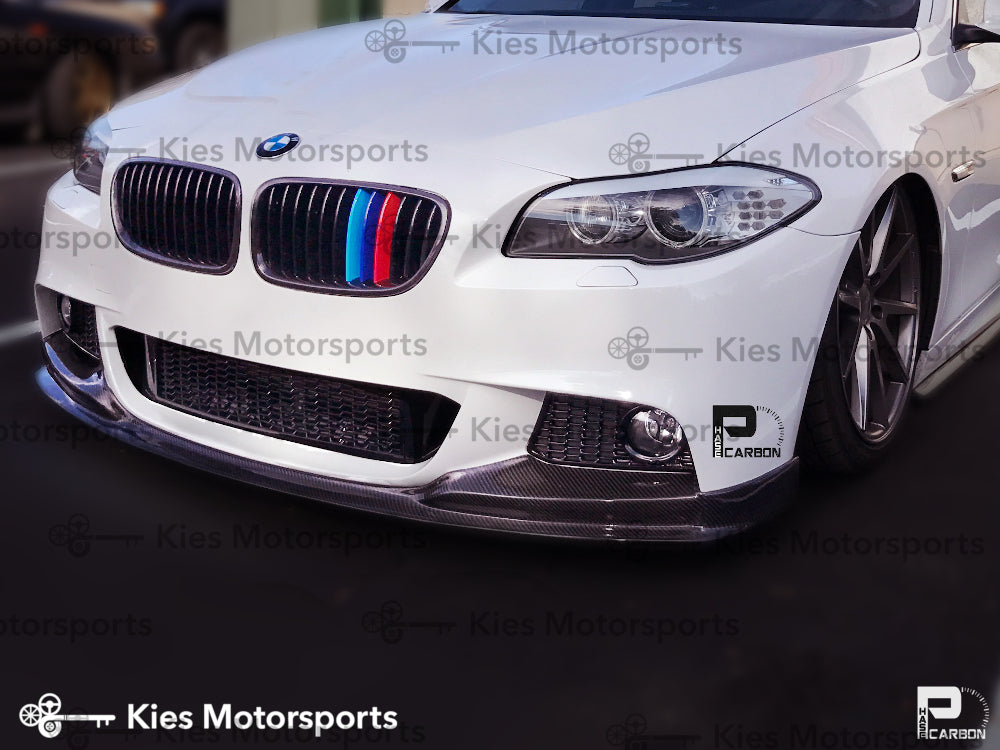 2011-2016 BMW F10 5 Series 3D Style Carbon Fiber Front Lip