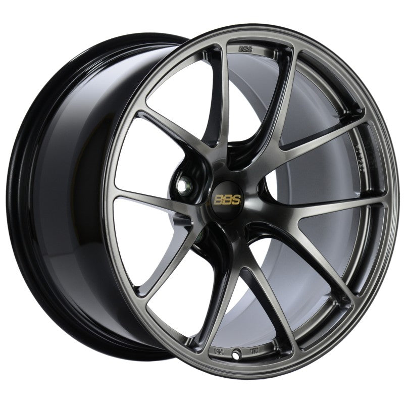 BBS RI-A 18x8.5 5x112 ET45 Diamond Black Wheel -82mm PFS/Clip Required