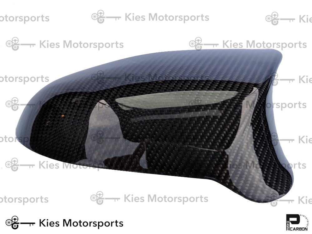 2014+ BMW F80 M3 / F82 M4 / F87 M2 Competition OEM Replacement Dry Carbon Fiber Mirror Covers