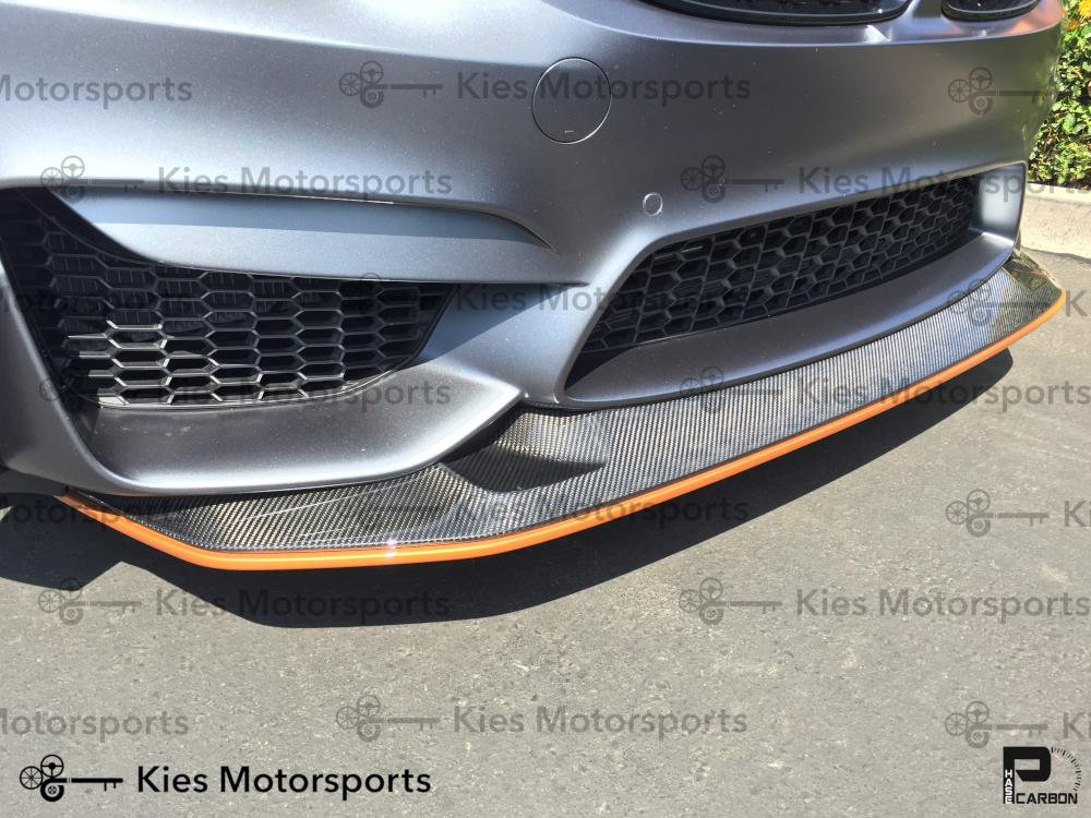 2014+ BMW F80 M3 / F82 M4 GTS Style Carbon Fiber Front Lip (Adjustable 2 Piece)