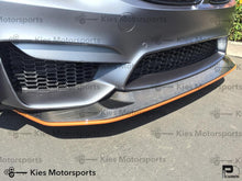 Load image into Gallery viewer, 2014+ BMW F80 M3 / F82 M4 GTS Style Carbon Fiber Front Lip (Adjustable 2 Piece) - Kies Motorsports