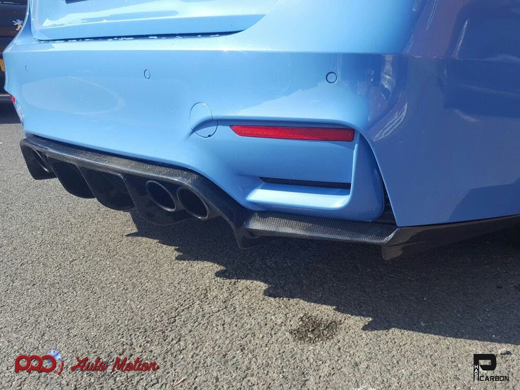 2014+ BMW F80 M3 / F82 M4 VSX Carbon Fiber Rear Diffuser (Made-to-Order)