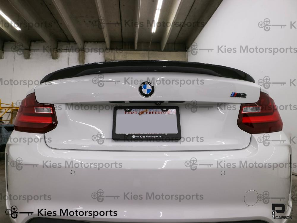 BMW F22 F23 2 Series F87 M2 Carbon Fiber High Kick Performance Style Trunk Spoiler