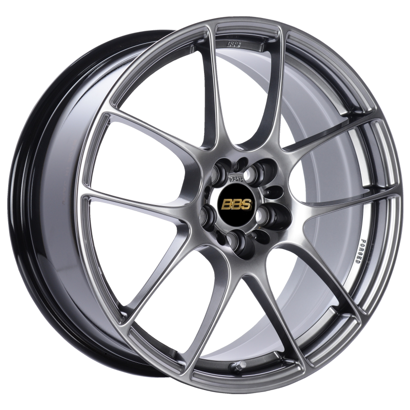 BBS RF 18x8 5x120 ET35 Diamond Black Wheel -82mm PFS/Clip Required