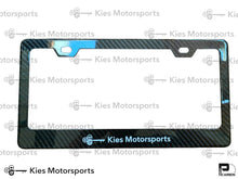 Load image into Gallery viewer, Kies Motorsports Dry Carbon Fiber Licence Plate Frames - Kies Motorsports