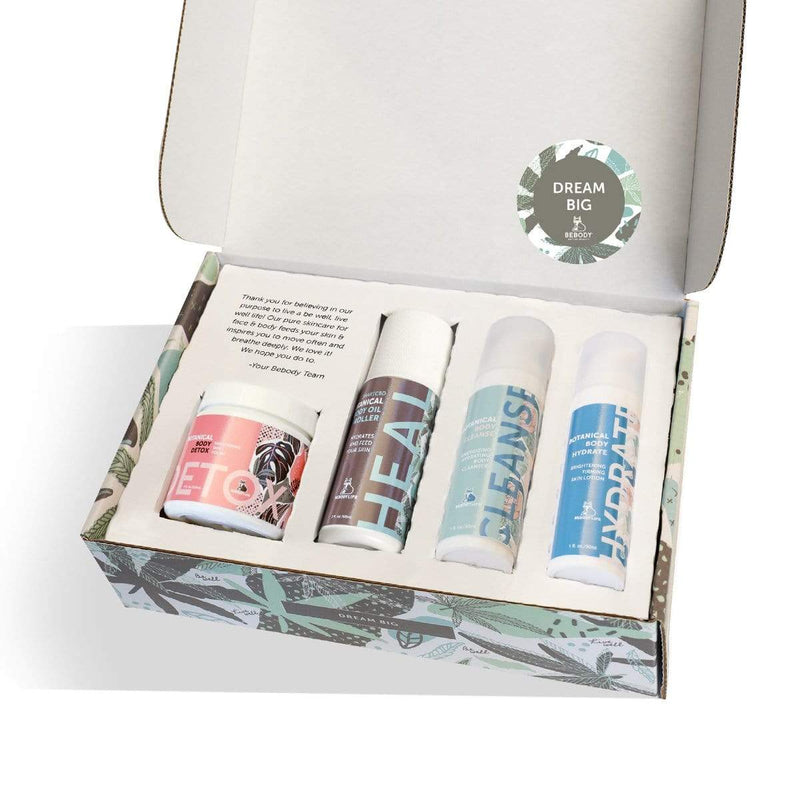 "BeBody USA ""Dream Big"" DISCOVERY KIT with BeBody's 4 products for face & body. BeBody Active Beauty"