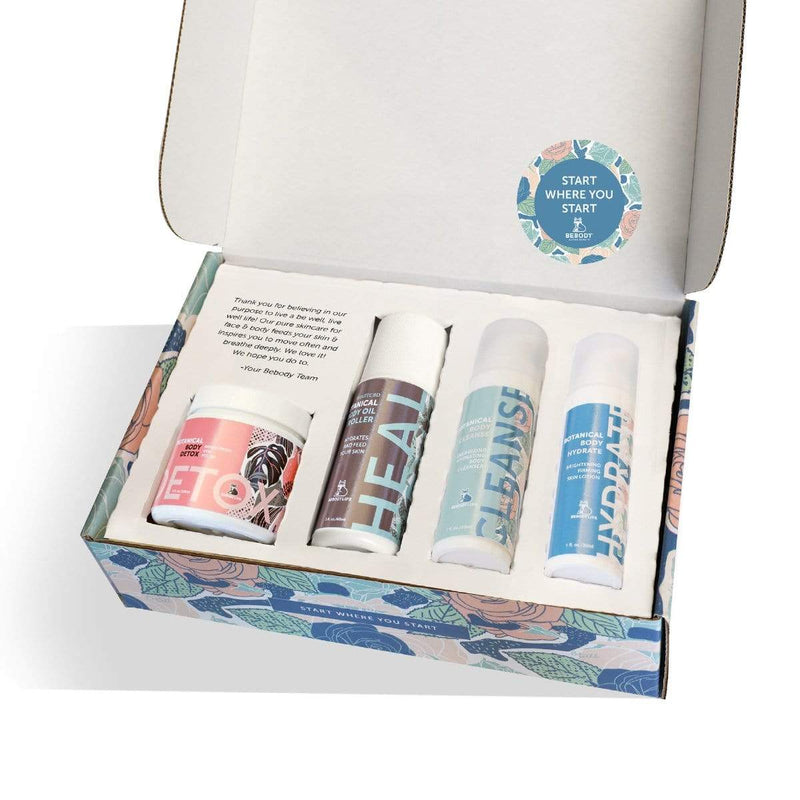 "BeBody USA ""Start Where You Start"" DISCOVERY KIT with BeBody's 4 products for face & body. BeBody Active Beauty"