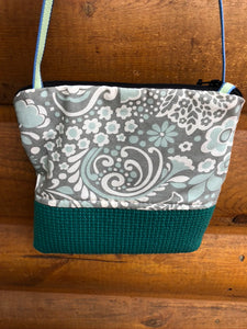Stella Seafoam Green Cross Body Purse-Floral