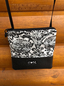 Stella Black Cross Body Purse-Damask