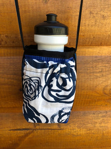 Water Bottle Holder With Pocket Floral Print