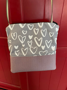 Stella Lavender Cross Body Purse-Hearts