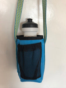 Teal Ajax Water Bottle Holder Purse-Floral