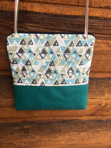 Stella Seafoam Green Cross Body -Geometric