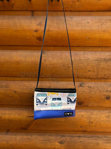 Blue Cross Body-VW print fabric