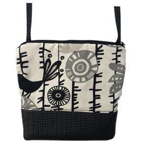 Stella Black Cross Body Purse-Birds