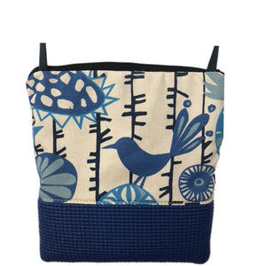Stella Royal Blue Cross Body Purse-Birds